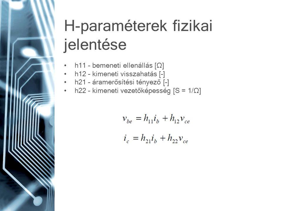 H-paraméterek fizikai jelentése