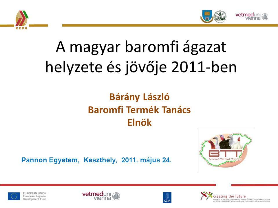 A magyar baromfi ágazat helyzete és jövője 2011-ben