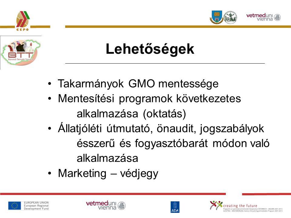 Lehetőségek Takarmányok GMO mentessége