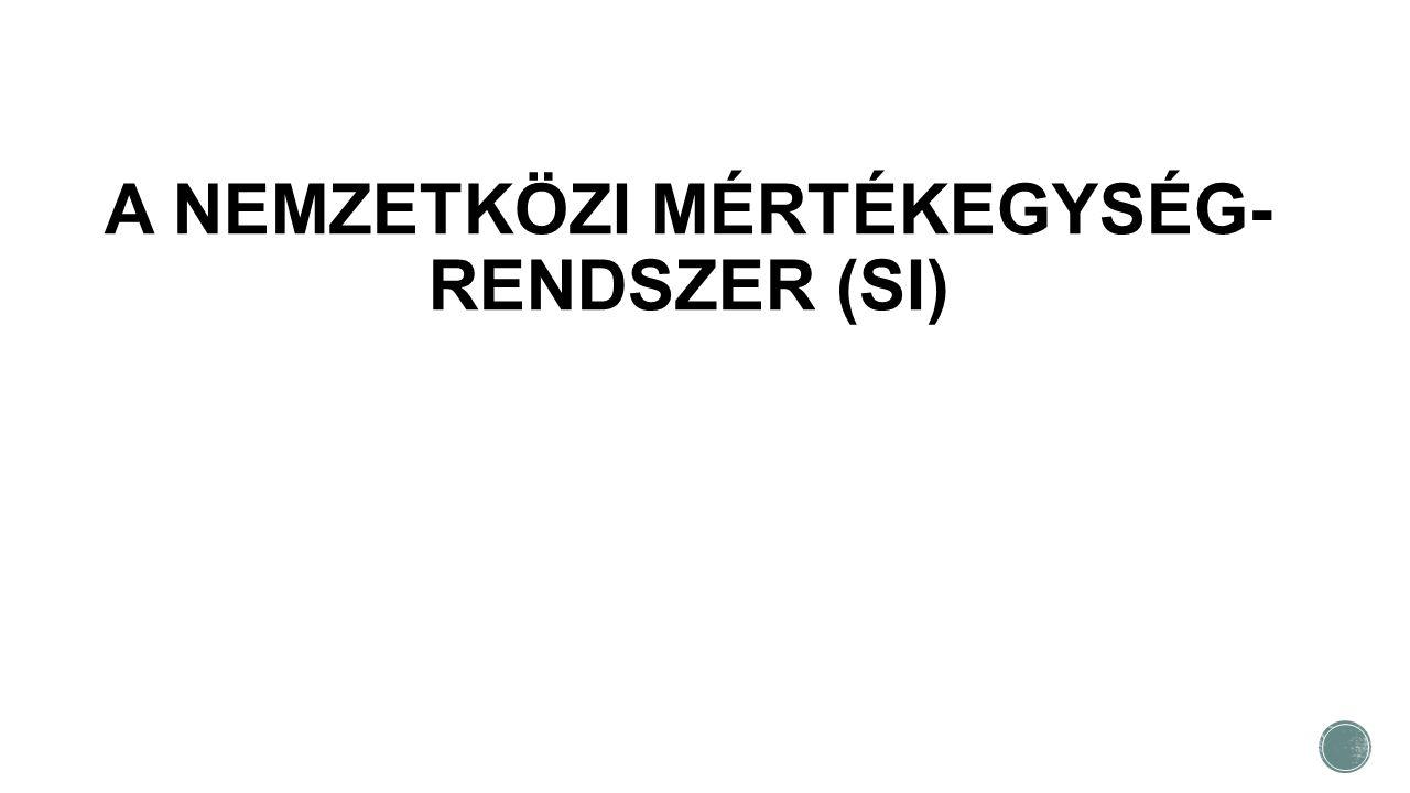 A NEMZETKÖZI MÉRTÉKEGYSÉG-RENDSZER (SI)