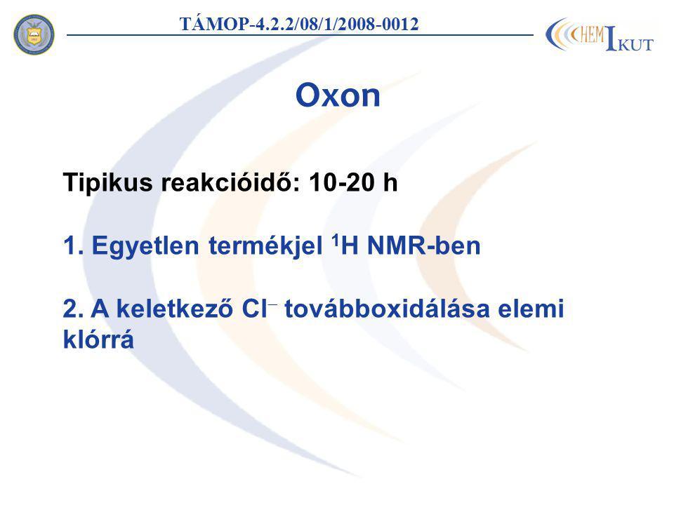 Oxon Tipikus reakcióidő: 10-20 h 1. Egyetlen termékjel 1H NMR-ben
