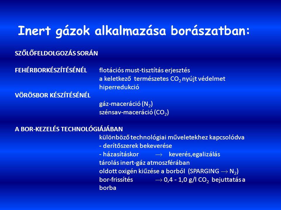 Inert gázok alkalmazása borászatban: