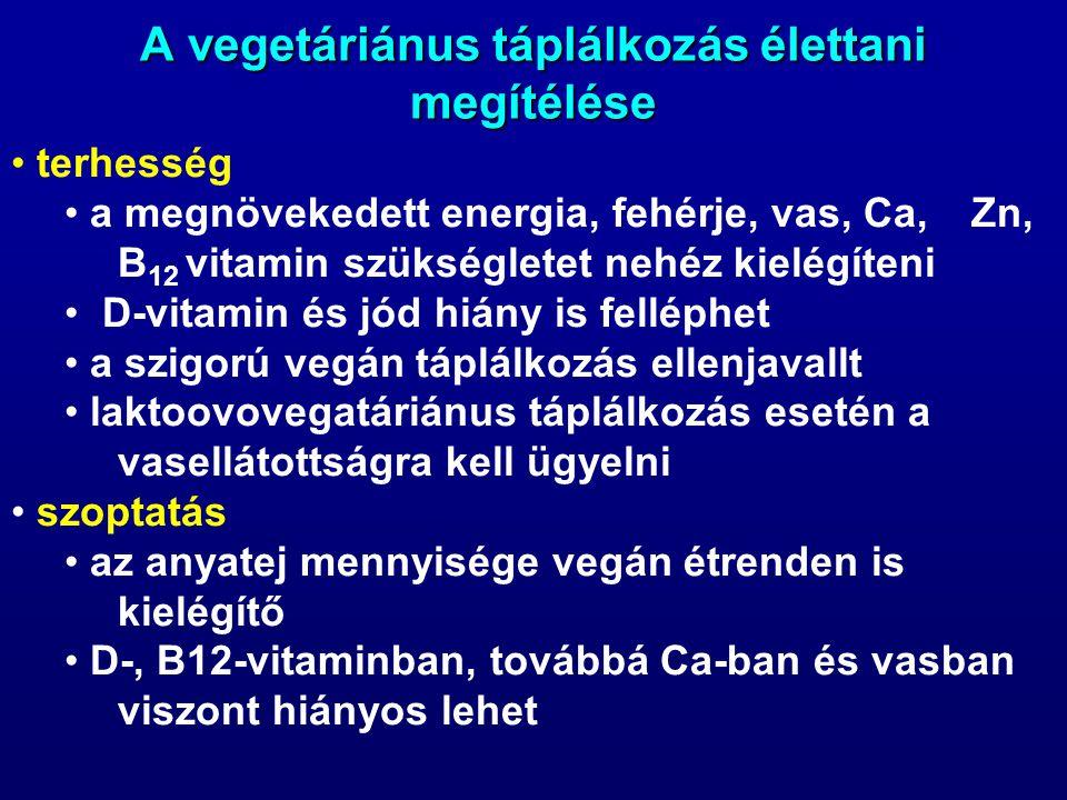 A vegetáriánus táplálkozás élettani megítélése