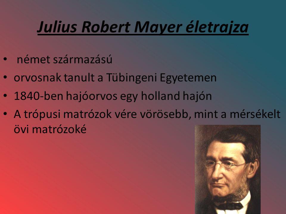 Julius Robert Mayer életrajza