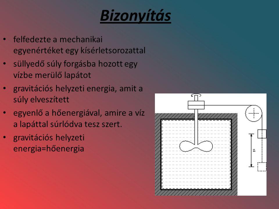 Bizonyítás felfedezte a mechanikai egyenértéket egy kísérletsorozattal