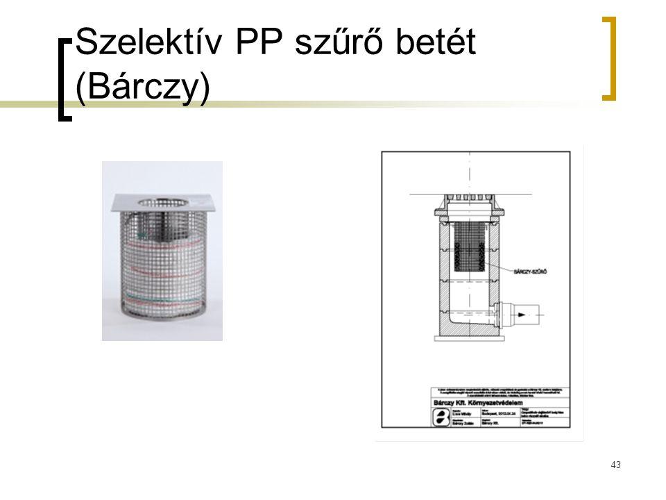 Szelektív PP szűrő betét (Bárczy)
