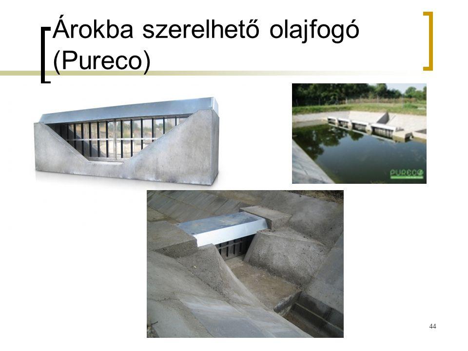 Árokba szerelhető olajfogó (Pureco)