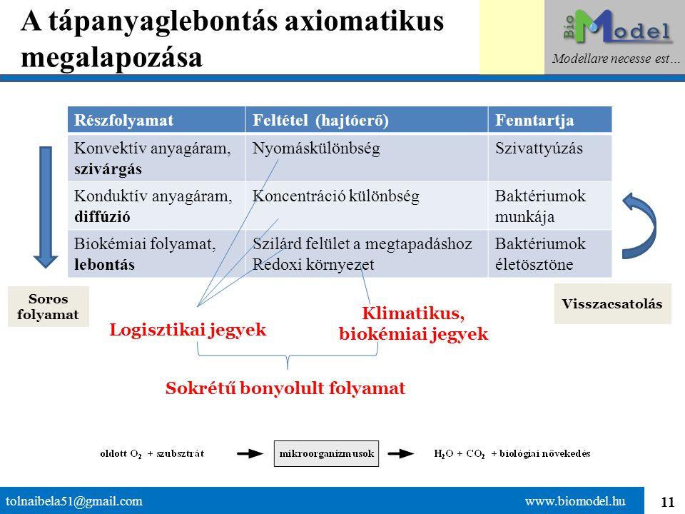 A tápanyaglebontás axiomatikus megalapozása