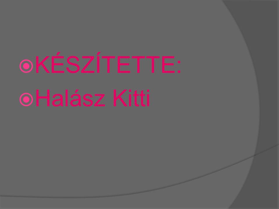 KÉSZÍTETTE: Halász Kitti