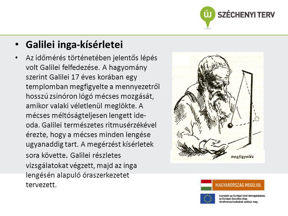 Galilei inga-kísérletei