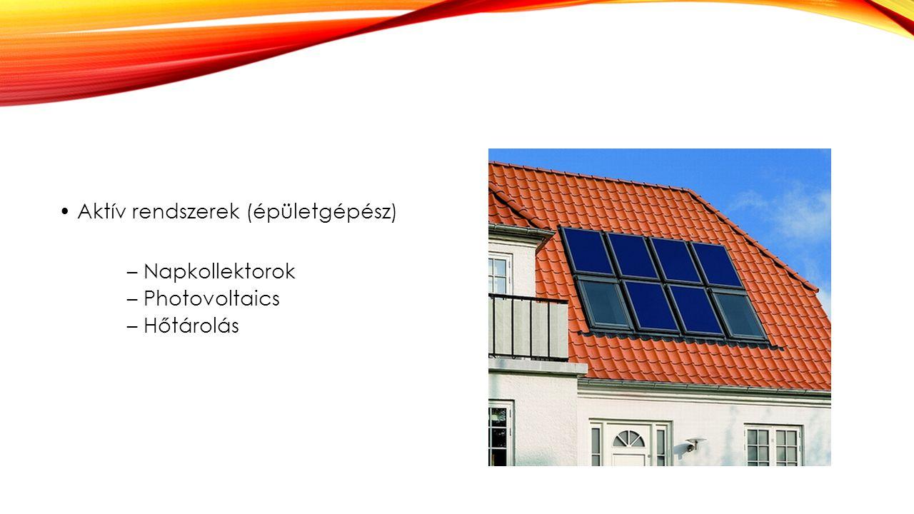 • Aktív rendszerek (épületgépész)