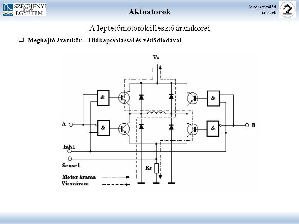 A léptetőmotorok illesztő áramkörei