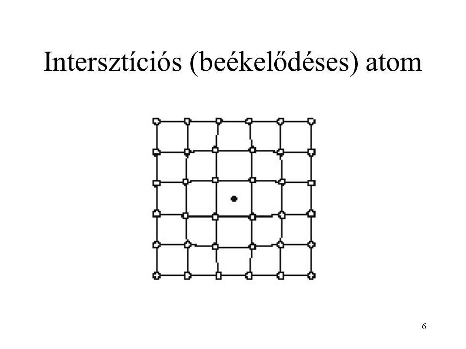 Intersztíciós (beékelődéses) atom