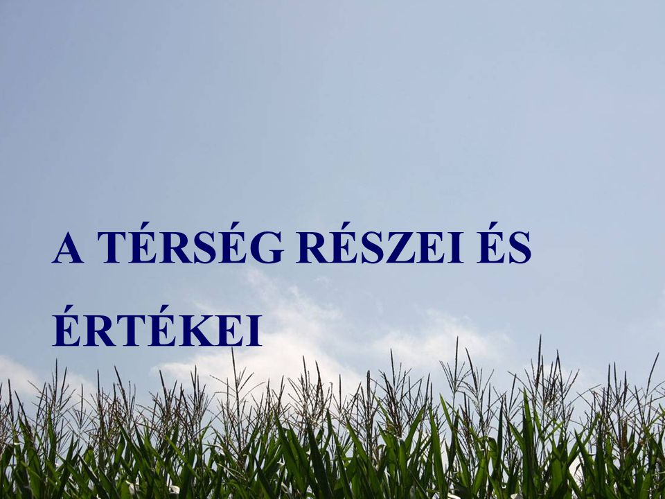 A térség részei és értékei