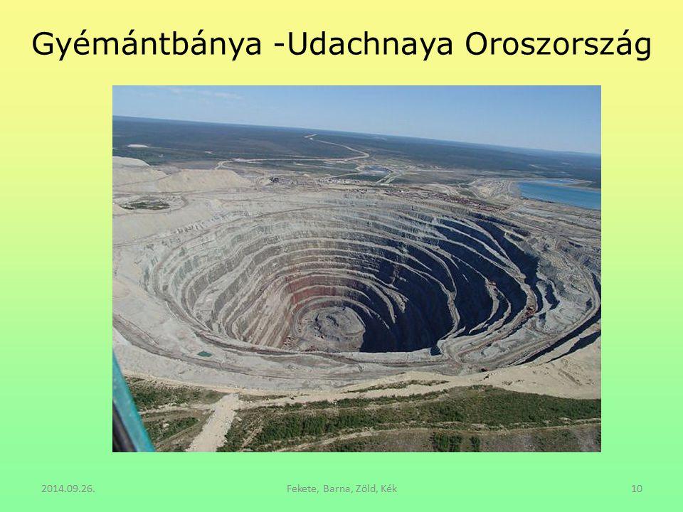 Gyémántbánya -Udachnaya Oroszország