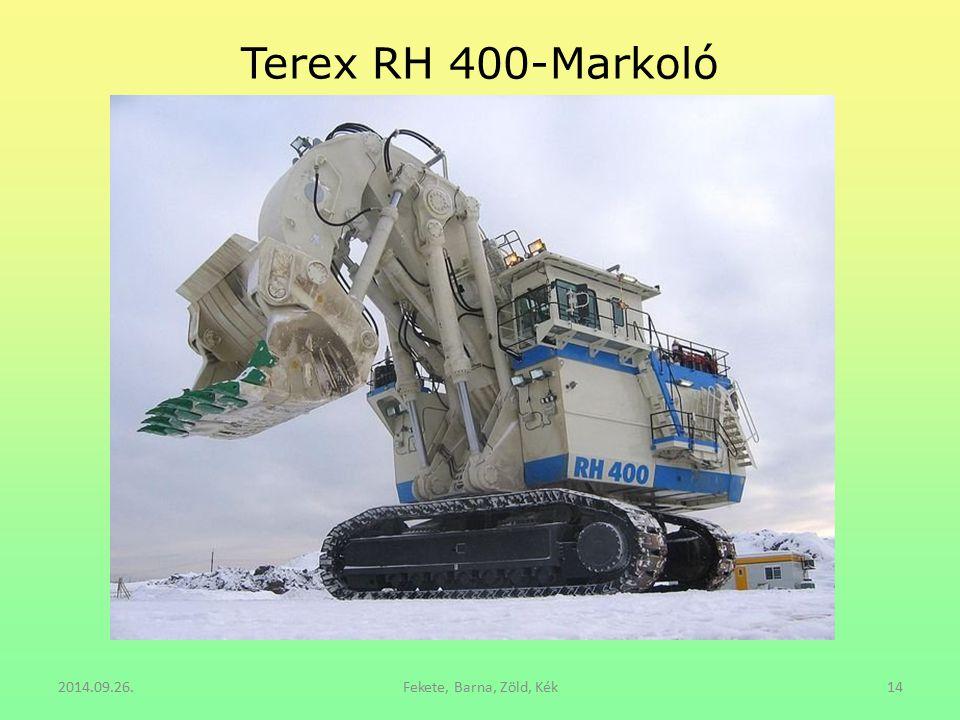 Terex RH 400-Markoló 2014.09.26. Fekete, Barna, Zöld, Kék