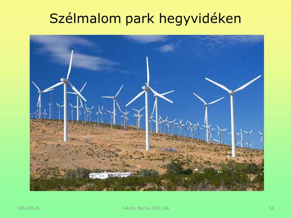 Szélmalom park hegyvidéken