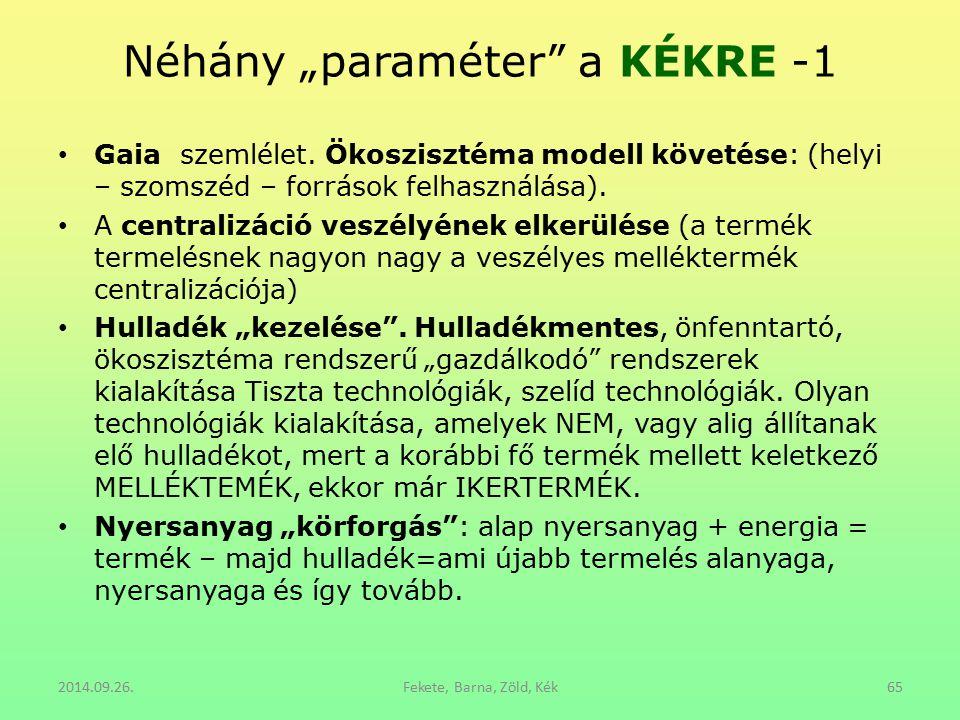 """Néhány """"paraméter a KÉKRE -1"""
