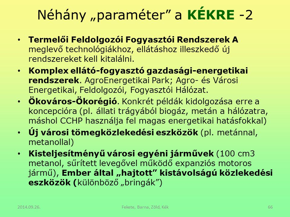 """Néhány """"paraméter a KÉKRE -2"""