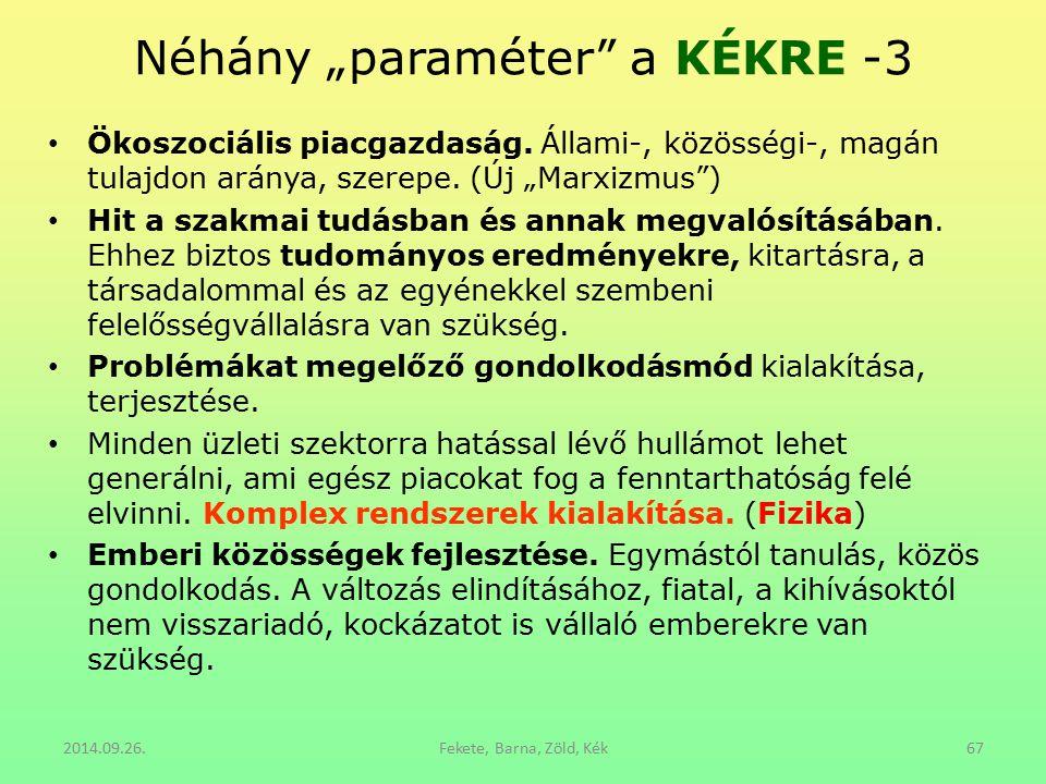 """Néhány """"paraméter a KÉKRE -3"""