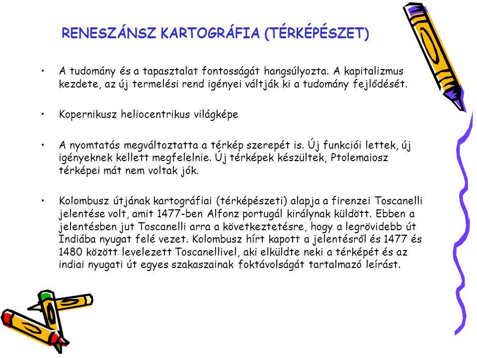 RENESZÁNSZ KARTOGRÁFIA (TÉRKÉPÉSZET)
