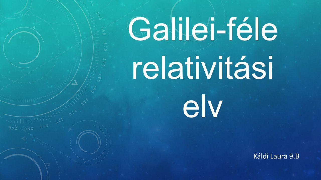 Galilei-féle relativitási elv