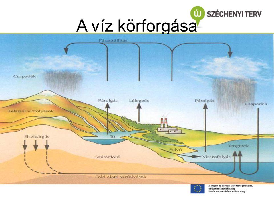 A víz körforgása Dr. Clement A. : Vízkészletek, vízminőség, vízszennyezések BME