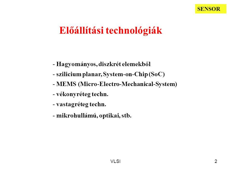 Előállítási technológiák