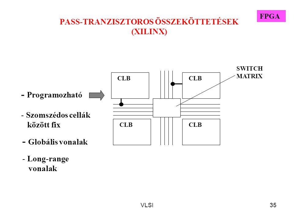 PASS-TRANZISZTOROS ÖSSZEKÖTTETÉSEK (XILINX)