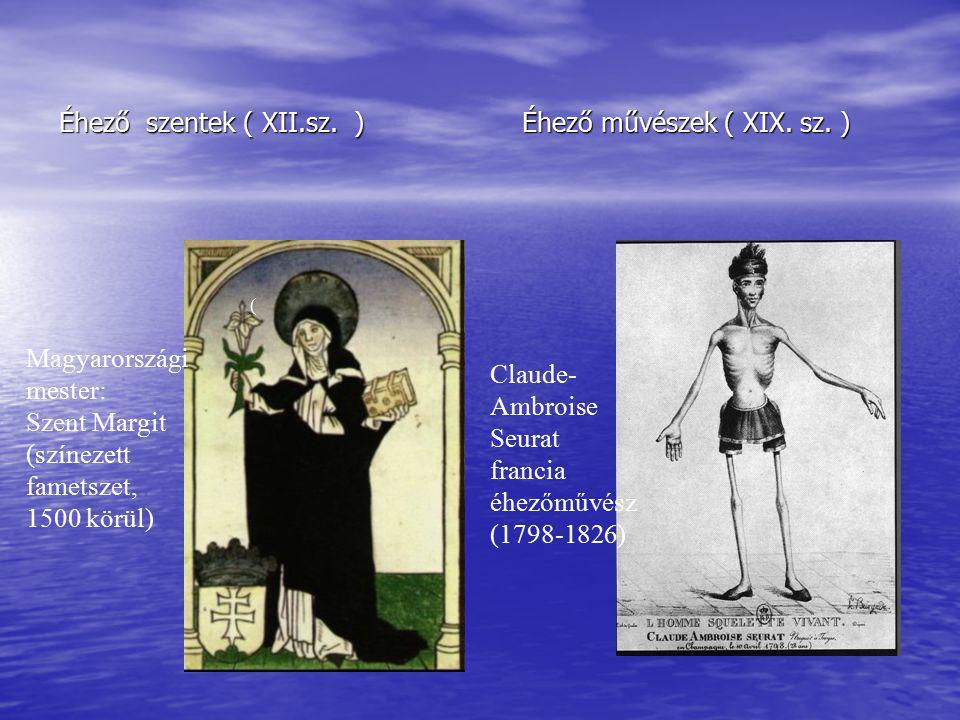 Éhező szentek ( XII.sz. ) Éhező művészek ( XIX. sz. )