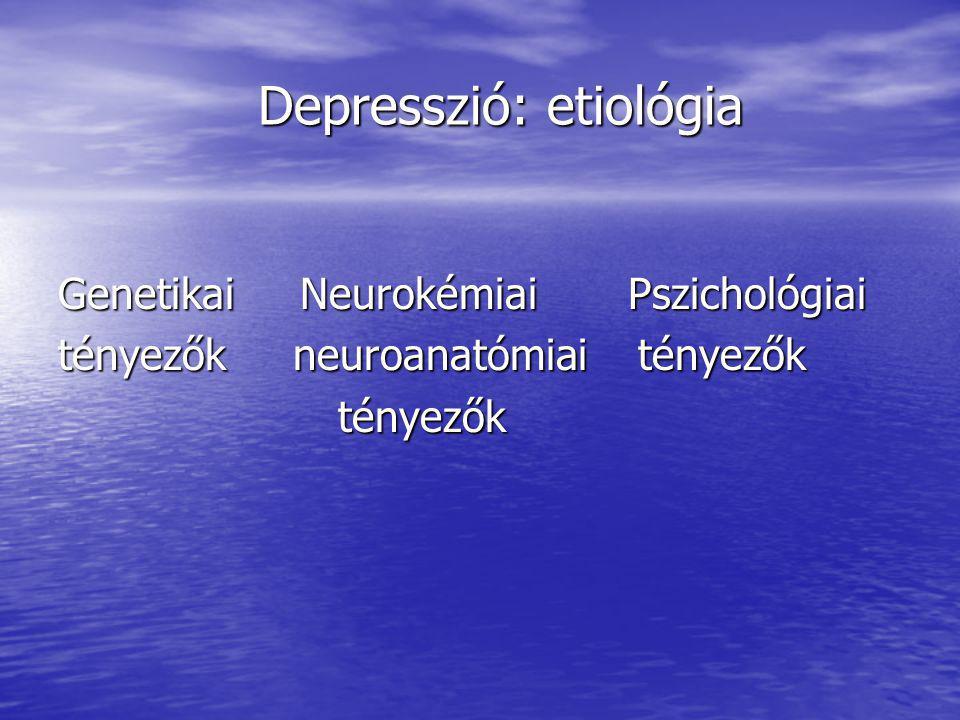 Depresszió: etiológia
