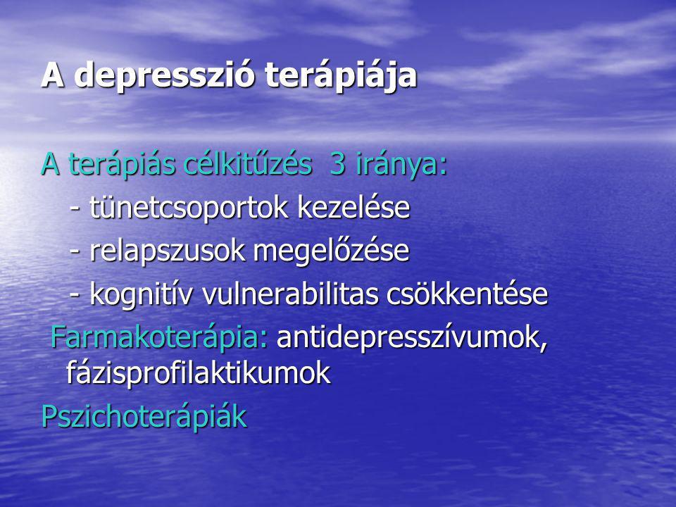 A depresszió terápiája