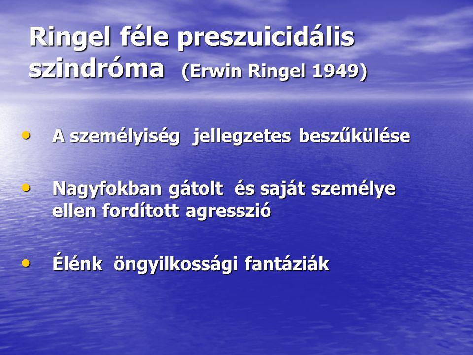 Ringel féle preszuicidális szindróma (Erwin Ringel 1949)