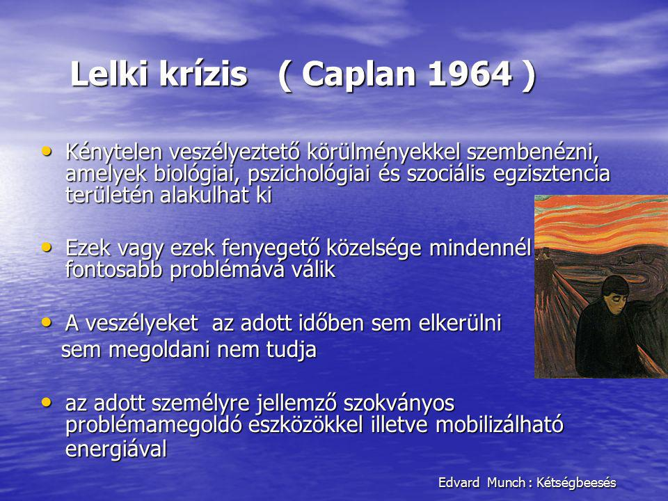 Lelki krízis ( Caplan 1964 ) Edvard Munch : Kétségbeesés