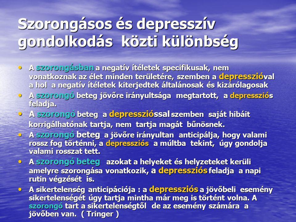Szorongásos és depresszív gondolkodás közti különbség