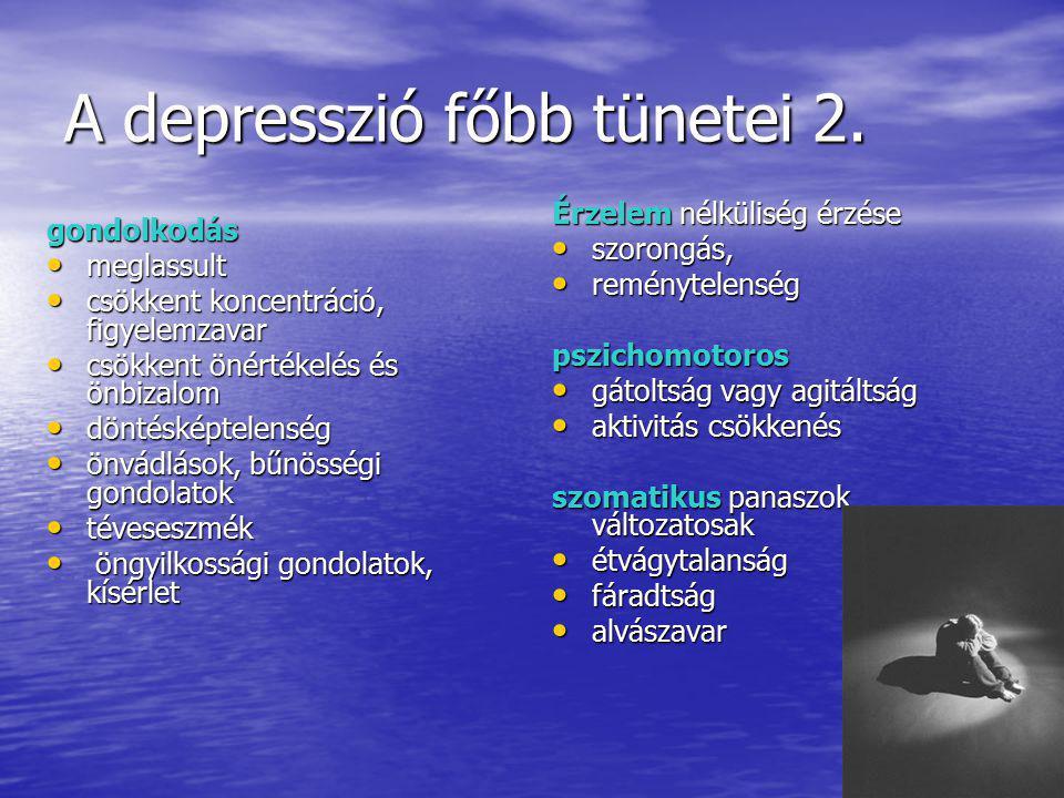 A depresszió főbb tünetei 2.
