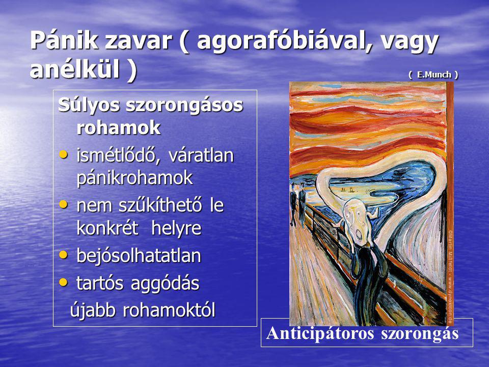 Pánik zavar ( agorafóbiával, vagy anélkül ) ( E.Munch )