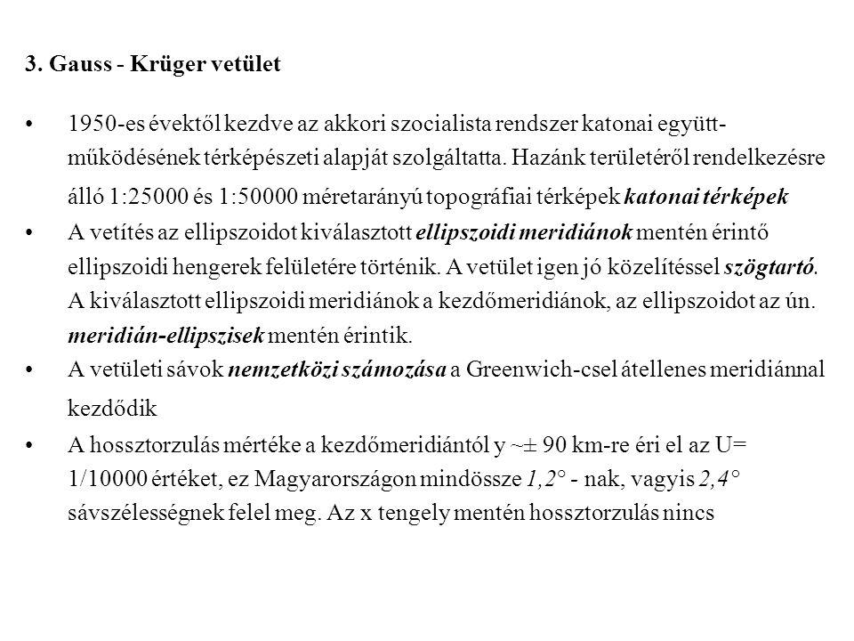 3. Gauss - Krüger vetület