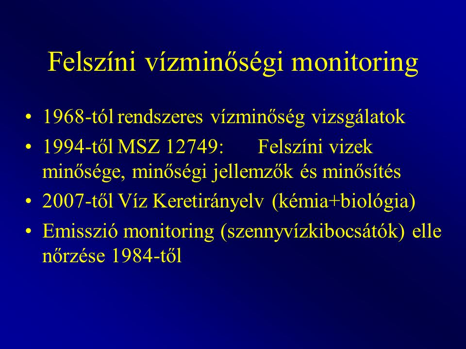 Felszíni vízminőségi monitoring