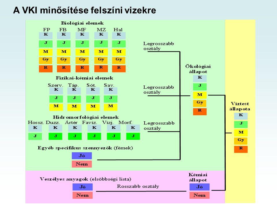 A VKI minősítése felszíni vizekre