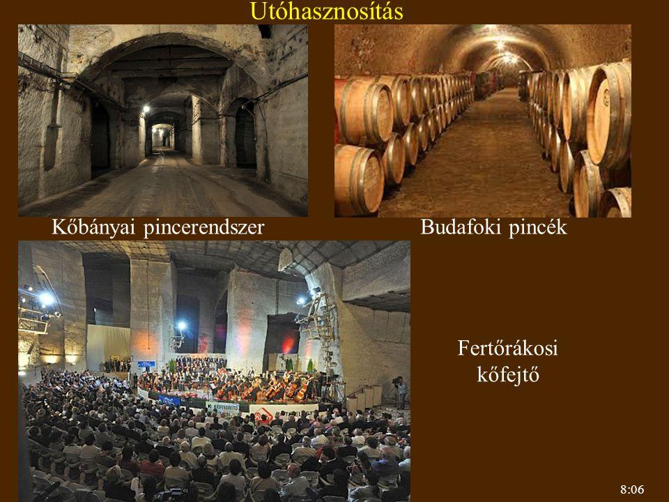 Utóhasznosítás Kőbányai pincerendszer Budafoki pincék