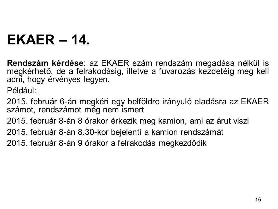 EKAER – 14.