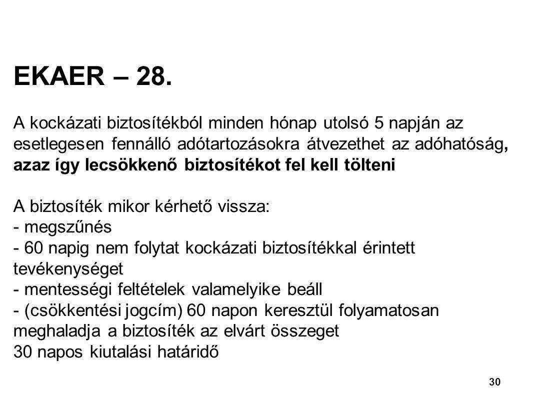 EKAER – 28.