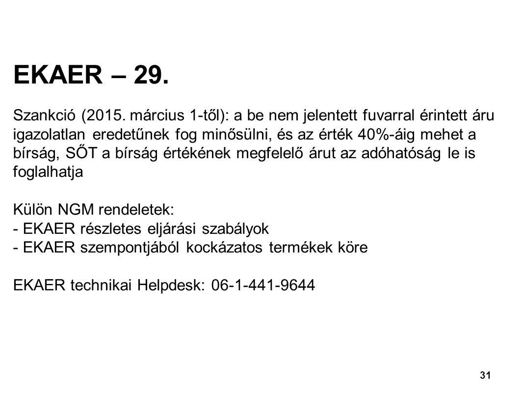 EKAER – 29.