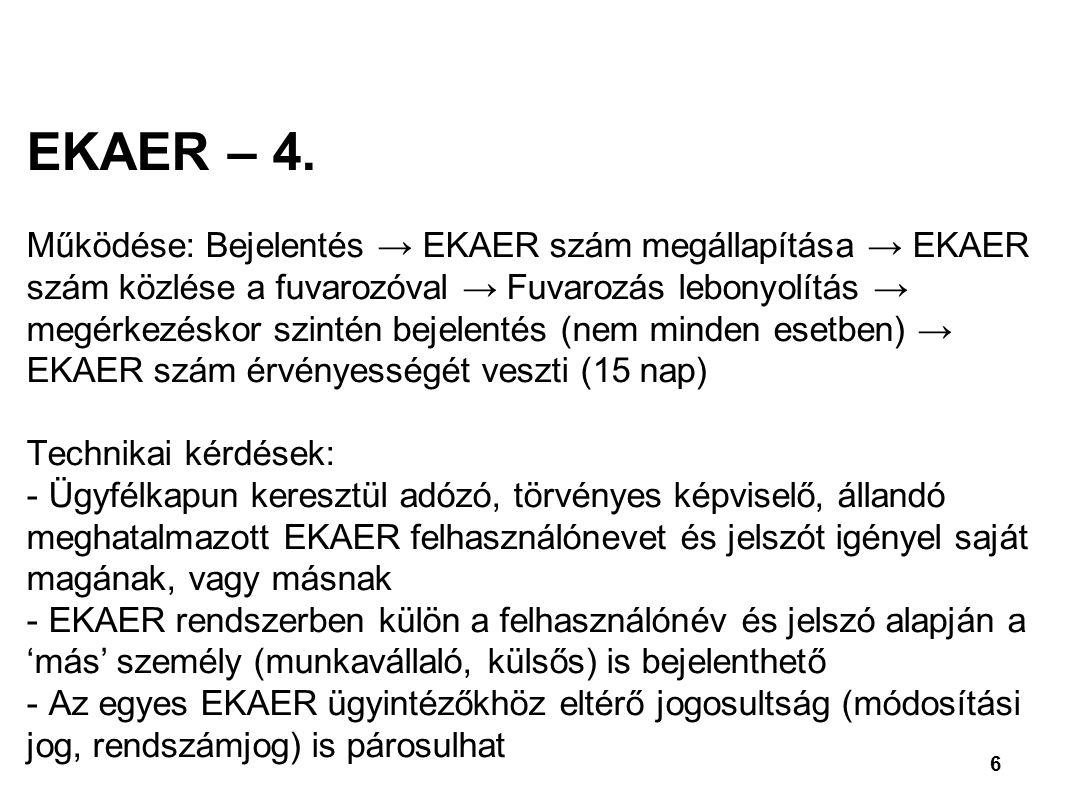EKAER – 4.