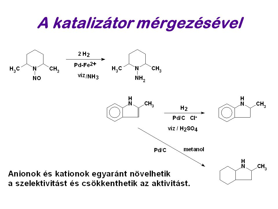 A katalizátor mérgezésével