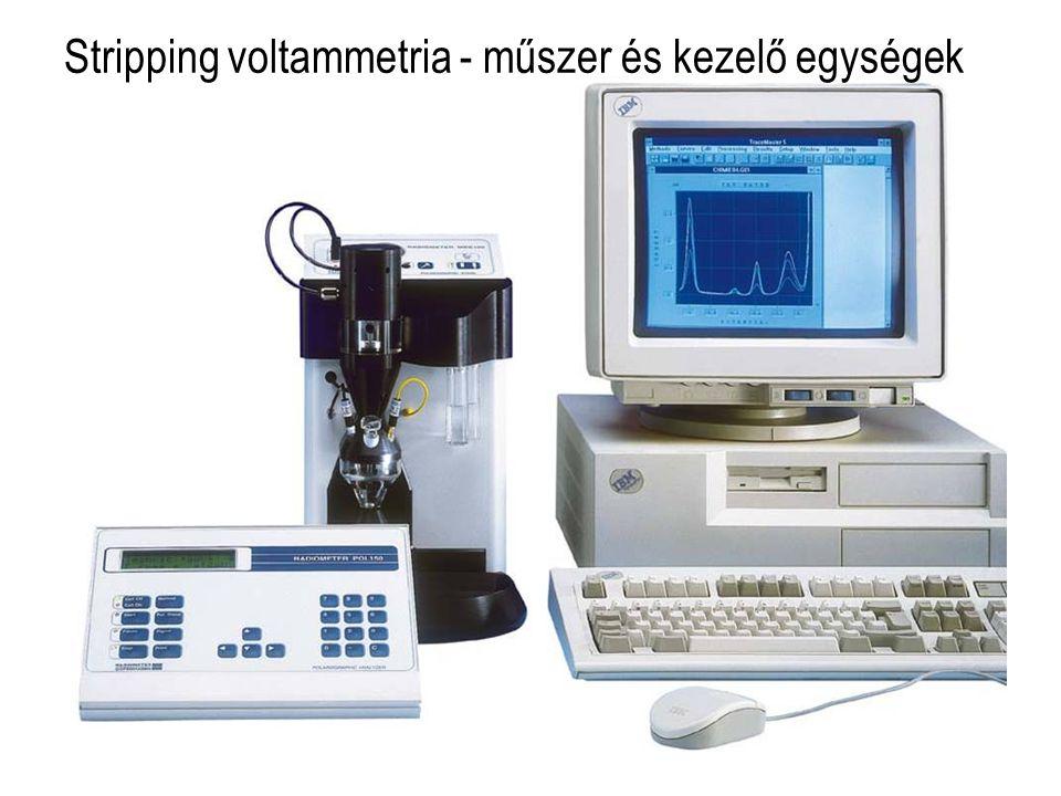 Stripping voltammetria - műszer és kezelő egységek