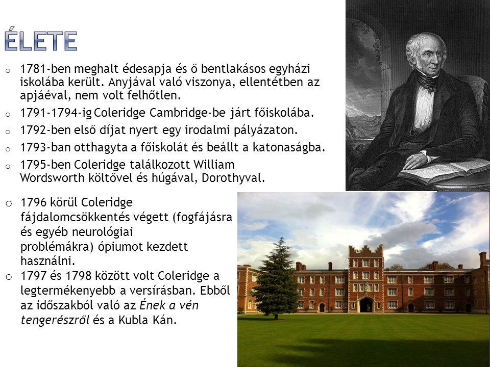 Élete 1781-ben meghalt édesapja és ő bentlakásos egyházi iskolába került. Anyjával való viszonya, ellentétben az apjáéval, nem volt felhőtlen.