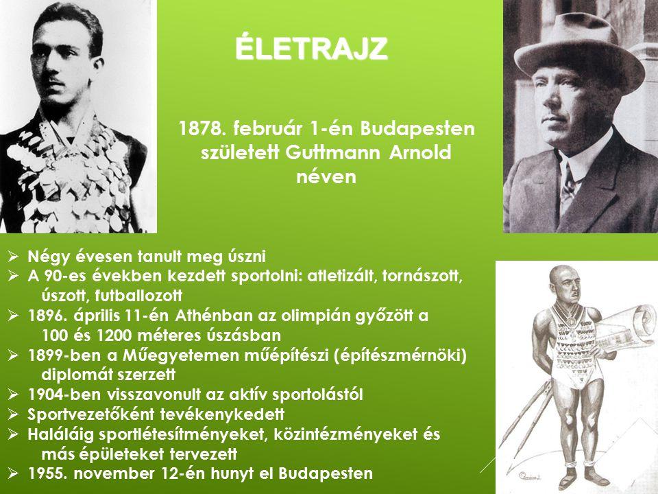 1878. február 1-én Budapesten született Guttmann Arnold néven