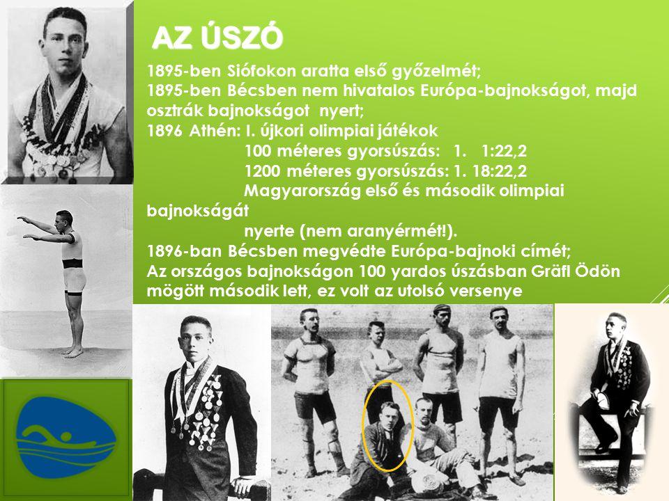 Az úszó 1895-ben Siófokon aratta első győzelmét;